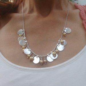 Lucky Brand Gold & Silver Adjustable Boho Necklace